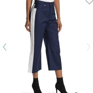 Baldwin Cropped Side Stripe Color Block Jeans